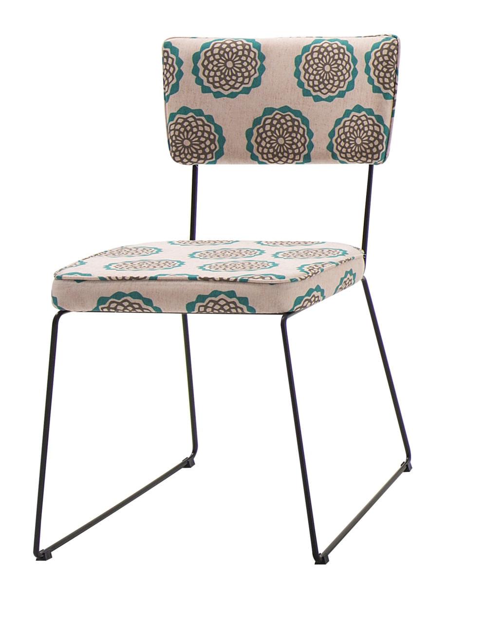 Cadeira Milan Estampa Cerc Base Preta - 55892