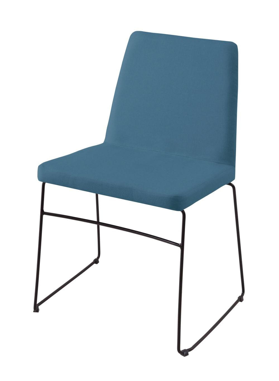 Cadeira Avec Azul Base Preta - 55901