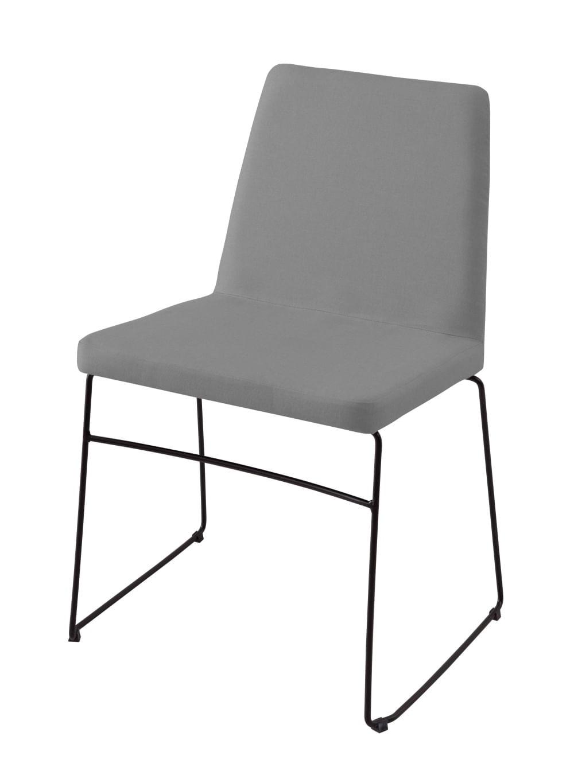 Cadeira Avec Cinza Base Preta - 55902