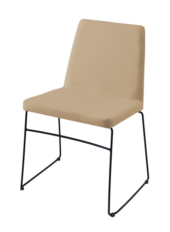 Cadeira Avec Bege Base Preta - 55903