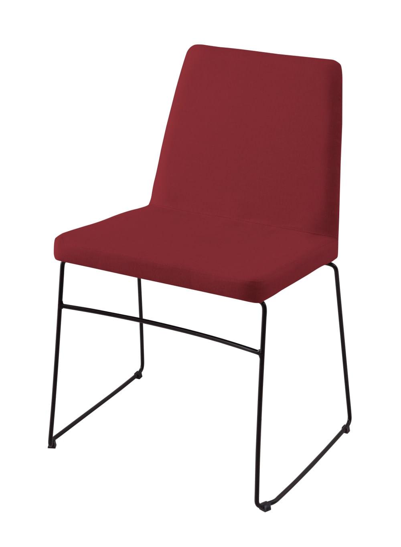 Cadeira Avec Marsala Base Preta - 55905