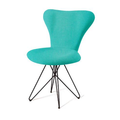Cadeira-Jacobsen-Series-7-Verde-com-Base-Estrela-Preta---55922