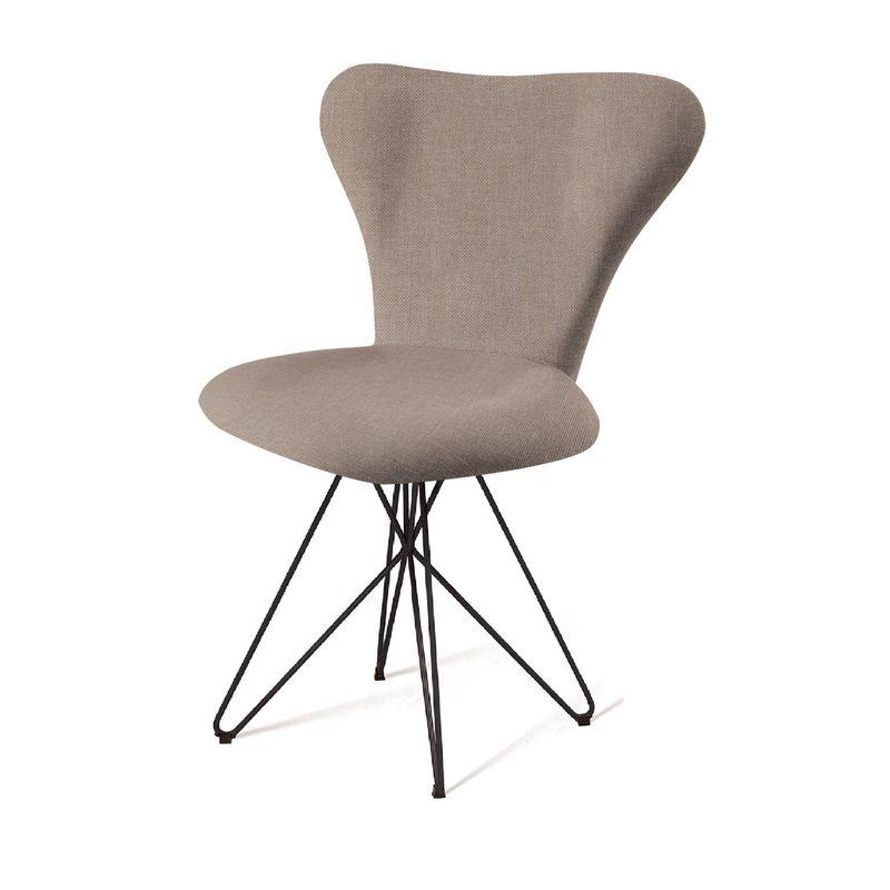 Cadeira-Jacobsen-Series-7-Cinza-com-Base-Estrela-Preta---55923
