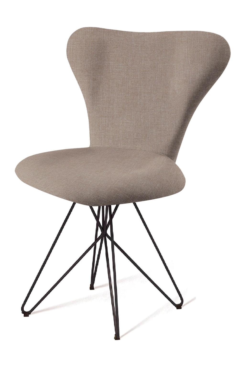 Cadeira Jacobsen Series 7 Cinza com Base Estrela Preta - 55923