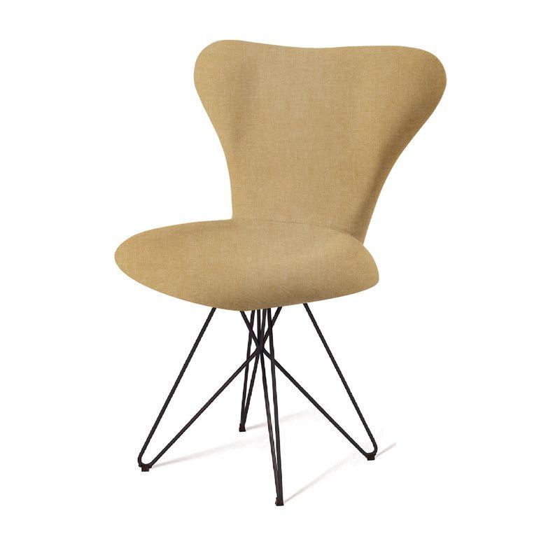 Cadeira-Jacobsen-Series-7-Bege-com-Base-Estrela-Preta---55924