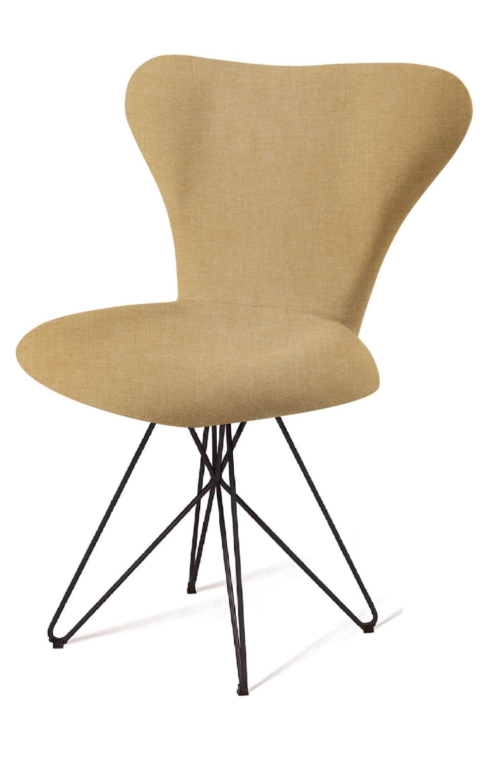 Cadeira Jacobsen Series 7 Bege com Base Estrela Preta - 55924