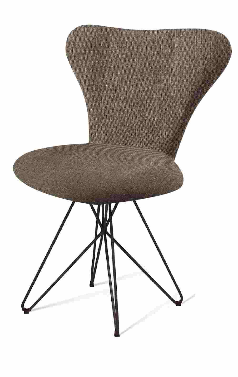 Cadeira Jacobsen Series 7 Chumbo com Base Estrela Preta - 55925