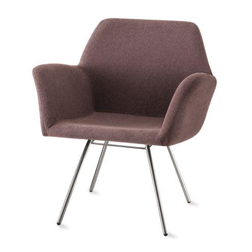 Poltrona-Miro-Assento-Estofado-Rustico-Marrom-Base-Cromada---55871