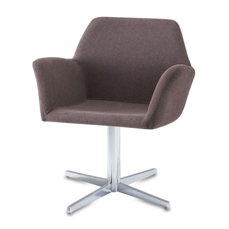 Poltrona-Miro-Assento-Estofado-Rustico-Marrom-Base-Fixa-em-Aluminio---55872
