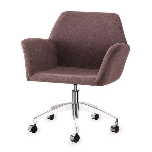 Poltrona-Miro-Assento-Estofado-Rustico-Marrom-Base-Rodizio-em-Aluminio---55874