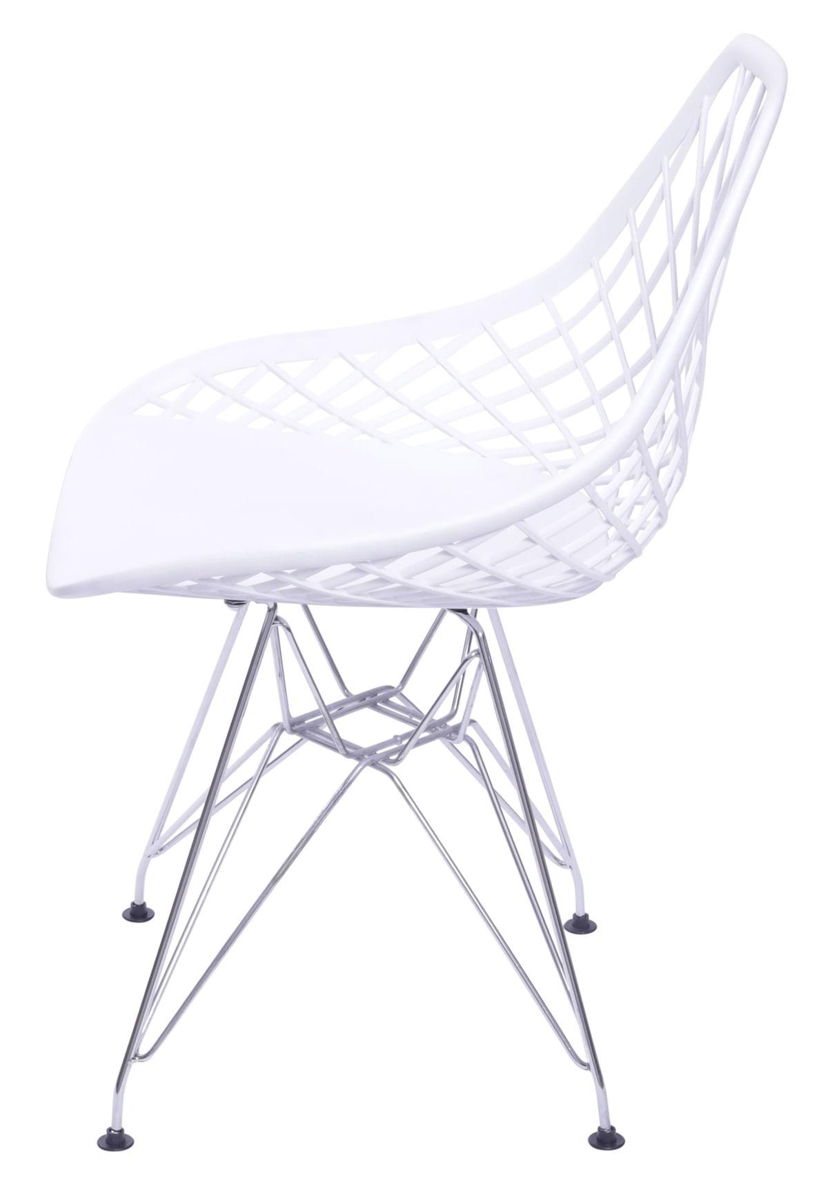 Cadeira Boom Polipropileno Branco com Base Cromada - 55933