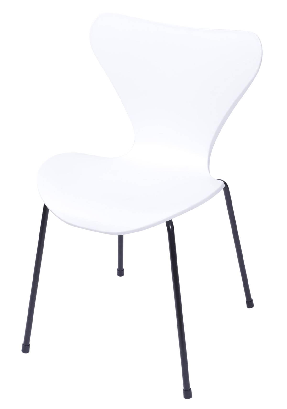 Cadeira Jacobsen Series 7 Polipropileno Branco com Base Metal - 55942