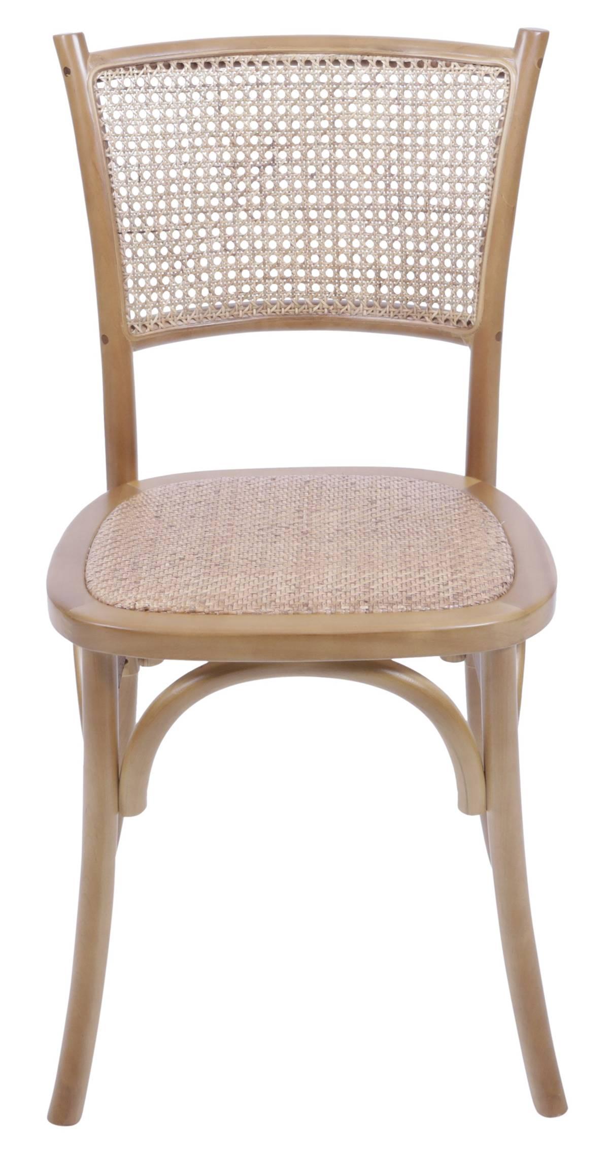 Cadeira Zimba Madeira Clara Assento em Rattan - 55489