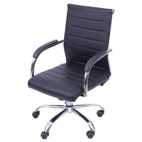 Cadeira-Office-Light-Baixa-Courino-Preto-com-Base-Rodizio-Cromada---55948