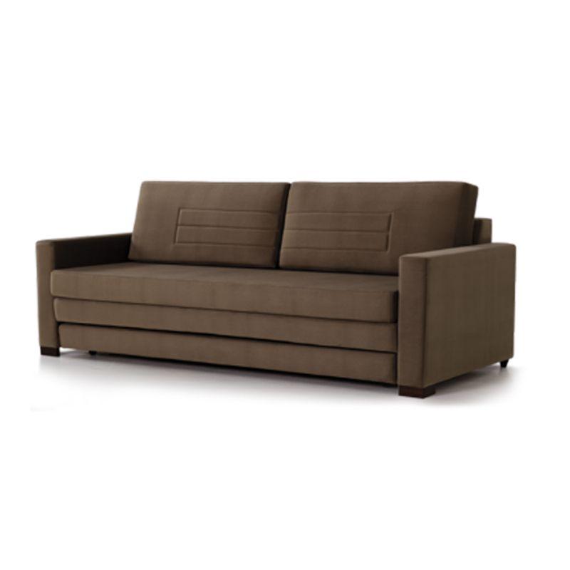 Sofa-Cama-Fox-com-3-Lugares-Assento-Veludo-Marrom-Base-Madeira-Cor-Castanho---56005