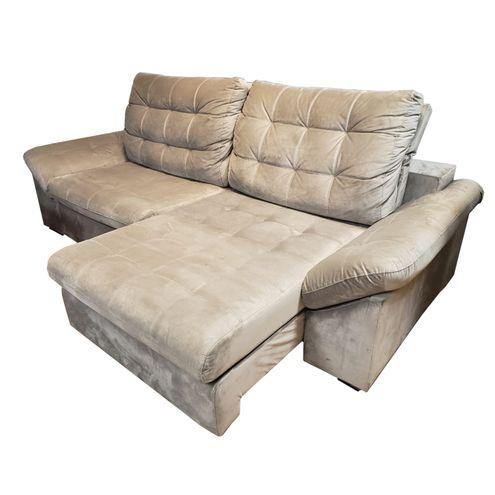 Sofa-Benedict-com-2-Lugares-Assento-Veludo-Cinza-Claro-Base-Madeira---56009