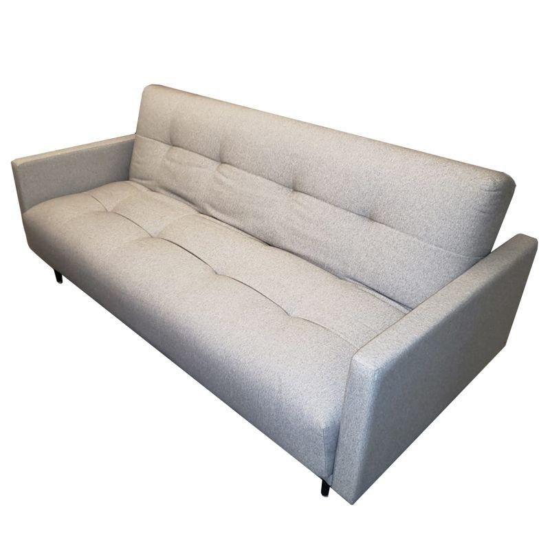Sofa-Cama-Flip-com-2-Lugares-Assento-Linho-Cinza-Claro-Base-Madeira---49827