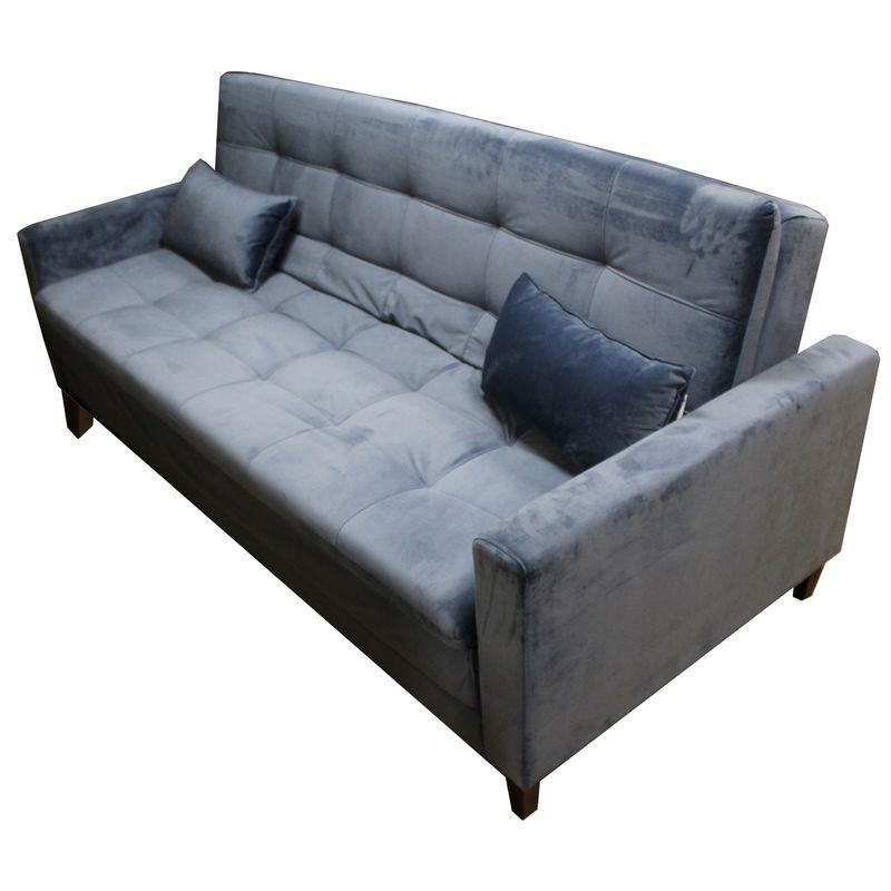 Sofa-Cama-Minimal-com-2-Lugares-Assento-Veludo-Azul-Base-Madeira---53374