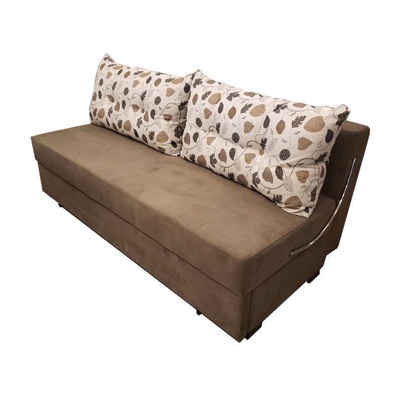 Sofa-Cama-Omega-com-2-Lugares-Assento-Veludo-Marrom-Claro-Base-Madeira---52161