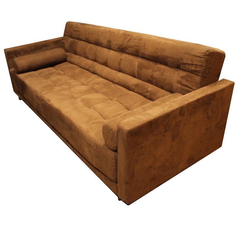 Sofa-Cama-Bit-com-3-Lugares-Assento-Veludo-Marrom-Base-Madeira---56012