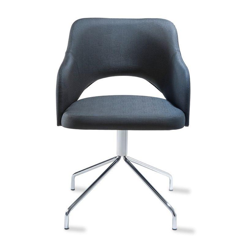 Poltrona-Arty-Assento-Estofado-Dunas-Preto-Base-Fixa-Tubular-Cromada---55898