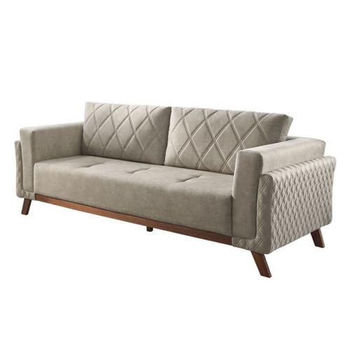 Sofa-Angra-com-3-Lugares-Assento-Veludo-Cinza-Base-Madeira-207-MT--LARG----56031