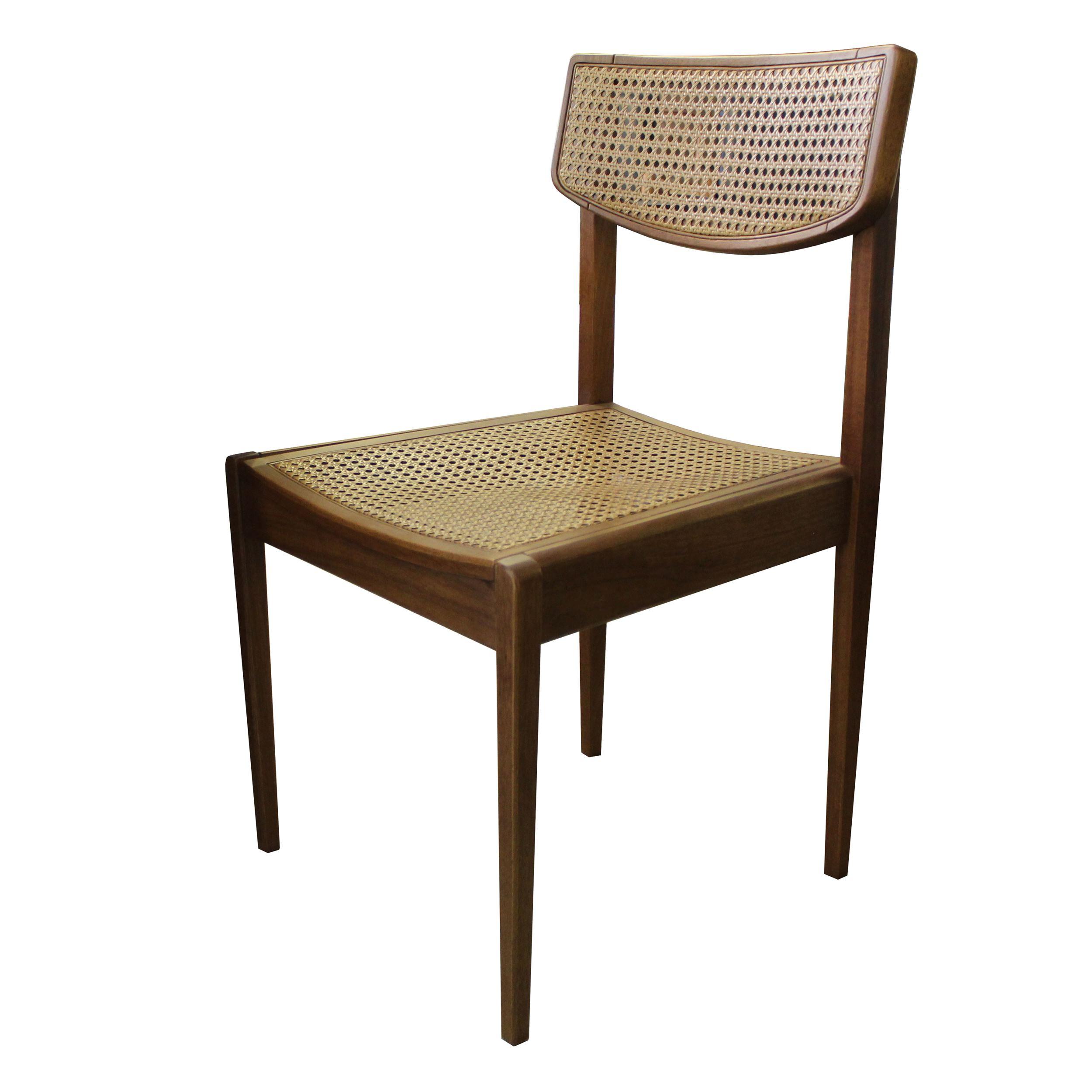 Cadeira Vereda em Madeira Tauari com Assento e Encosto em Palha Sextavada cor Mascavo - 50452