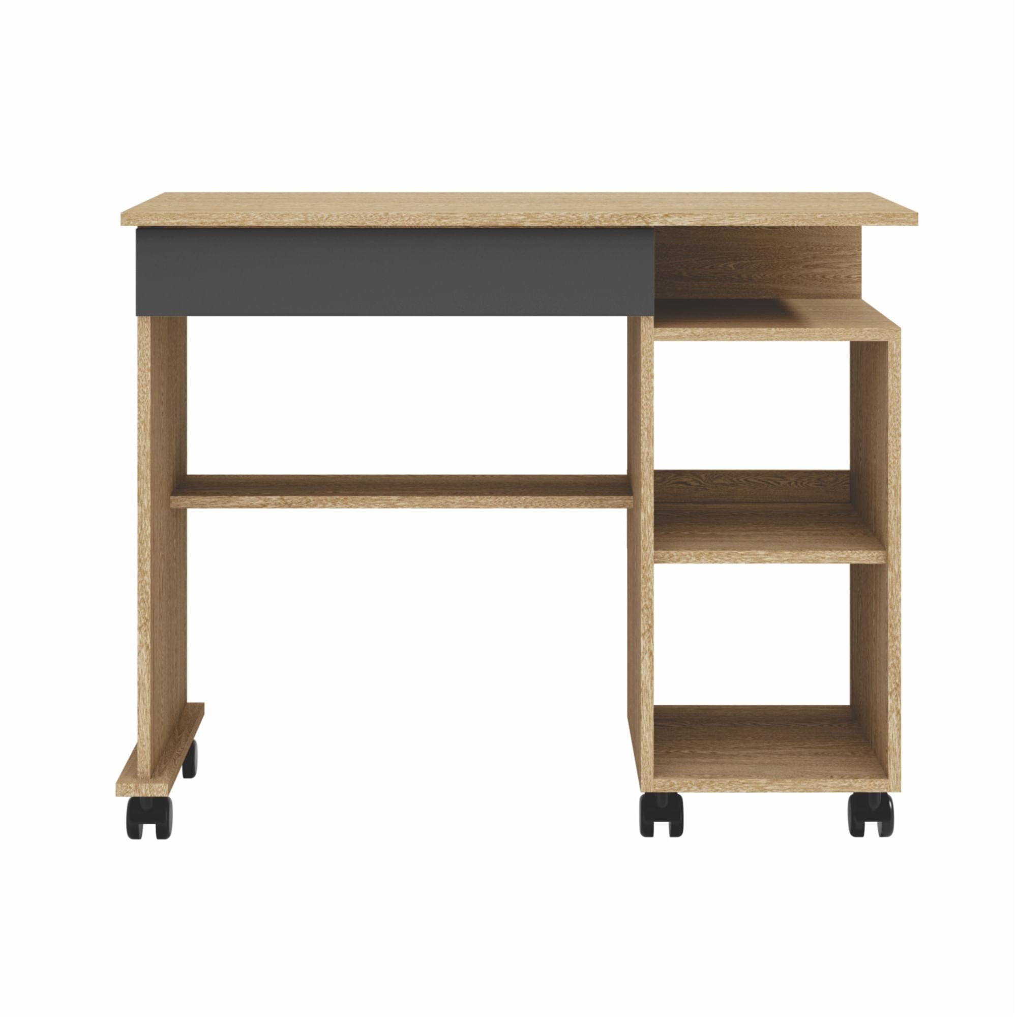 Mesa para Computador Practice cor Carvalho com Grafite - 56284