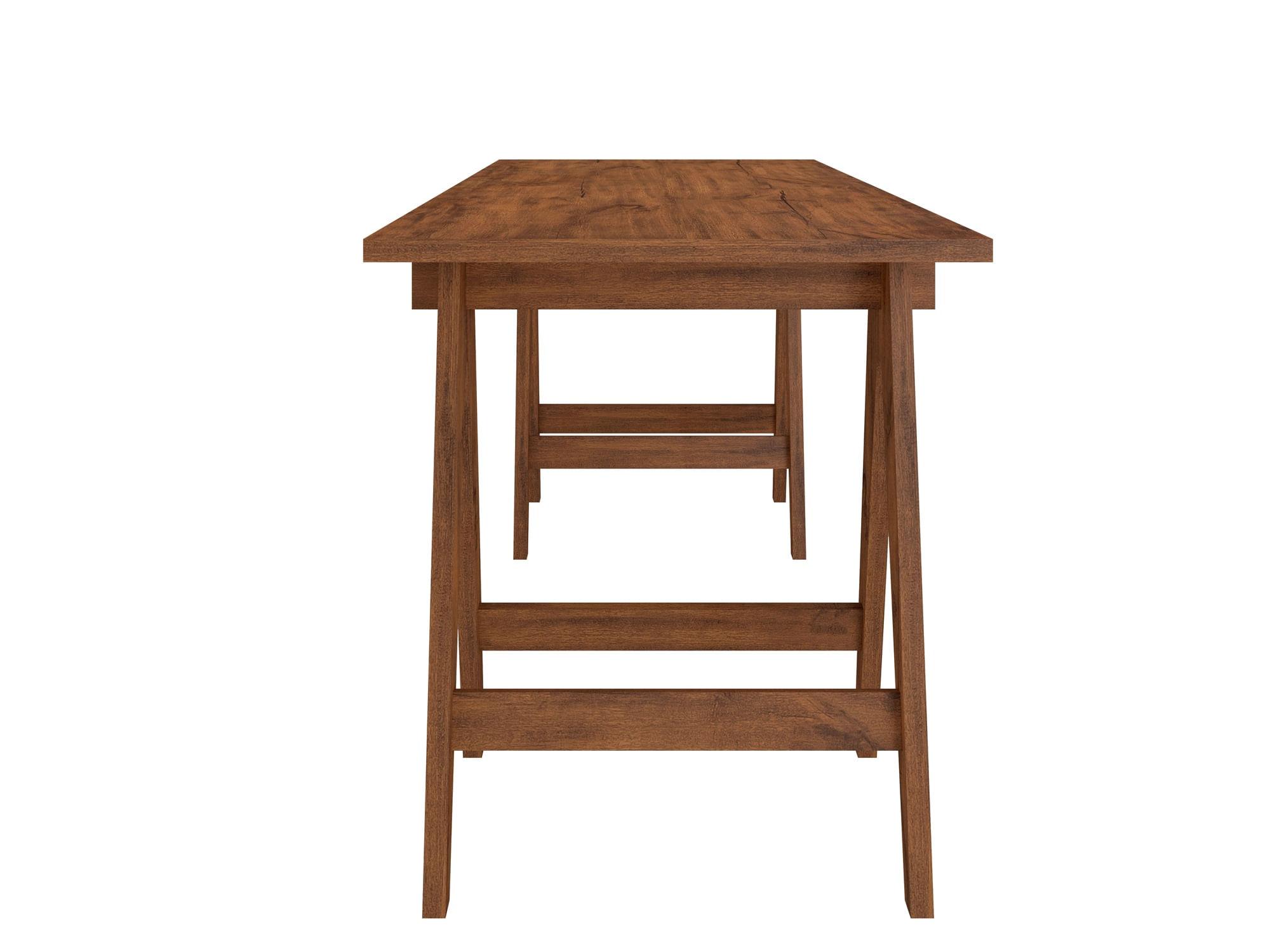 Mesa de Escritorio Cavalete Avi cor Nobre - 31116