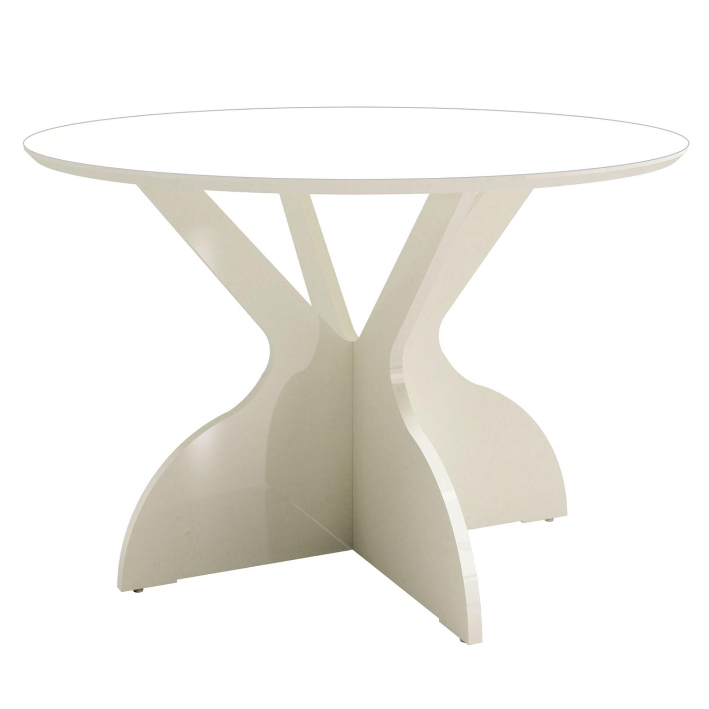 Mesa de Jantar Juventude Redonda cor Off White com Brilho 1,20 MT (DIAM) - 56340