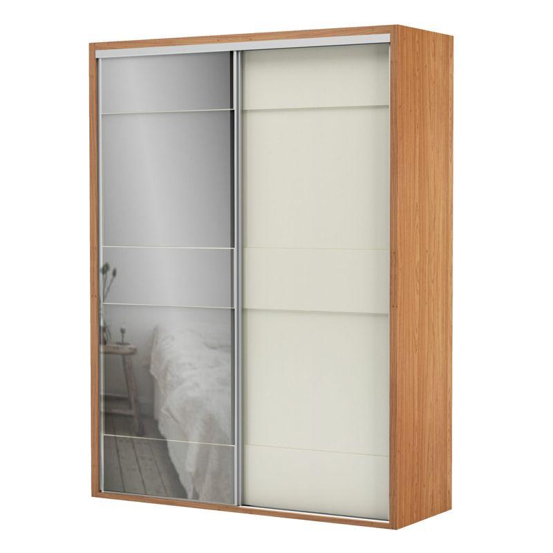 Armario-Premium-com-Espelho-2-Portas-e-2-Gavetas-cor-Freijo-com-Off-White-Brilho-179-MT--LARG----56454