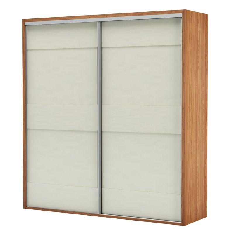 Armario-Premium-com-2-Portas-e-2-Gavetas-cor-Freijo-com-Off-White-Brilho-223-MT--LARG----56456