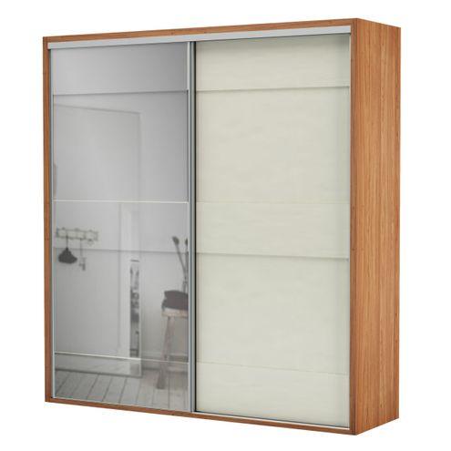 Armario-Premium-com-Espelho-2-Portas-e-2-Gavetas-cor-Freijo-com-Off-White-Brilho-223-MT--LARG----56458