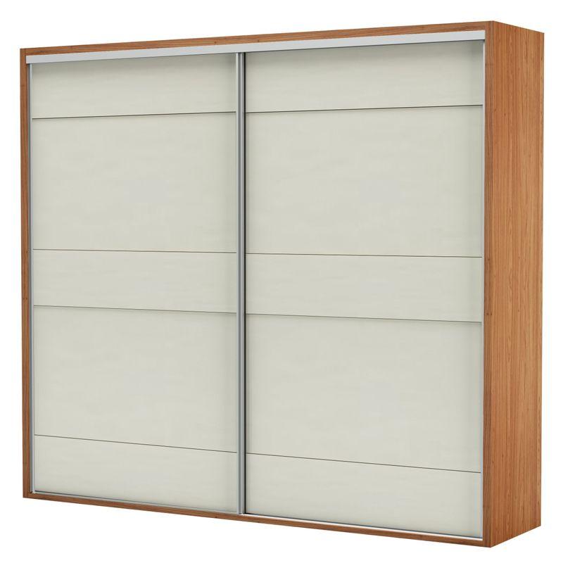 Armario-Premium-com-2-Portas-e-4-Gavetas-cor-Freijo-com-Off-White-Brilho-267-MT--LARG----56158-