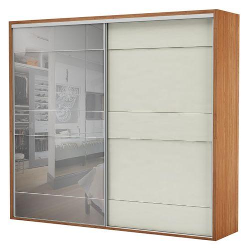 Armario-Premium-com-Espelho-2-Portas-e-4-Gavetas-cor-Freijo-com-Off-White-Brilho-267-MT--LARG----56461