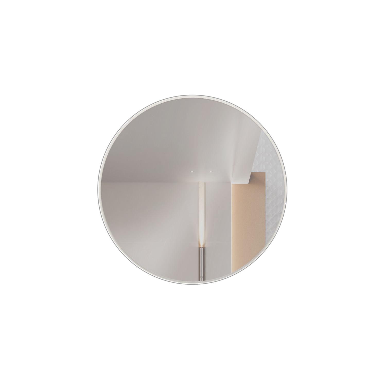 Espelho Redondo Lunes Pequeno cor Off White Brilho 30 cm (DIAM) - 56532