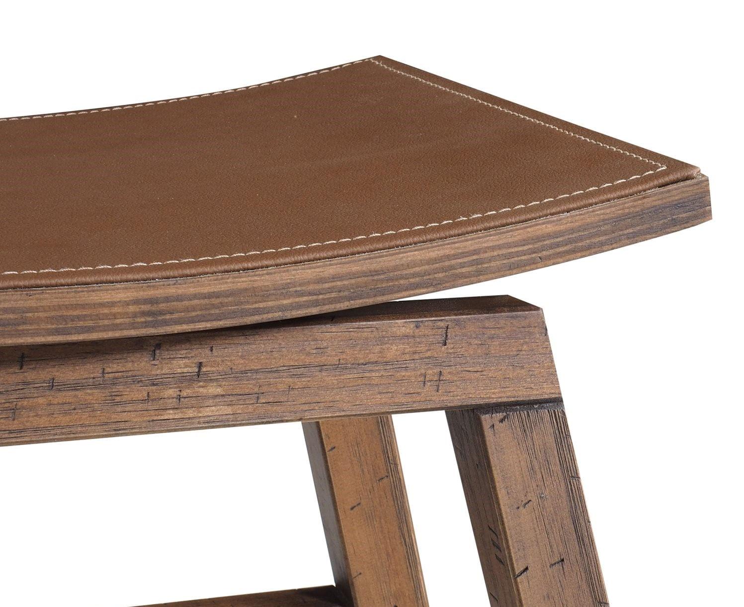 Banqueta Star Alta cor Rustic Brown 77 cm (ALT) - 55697