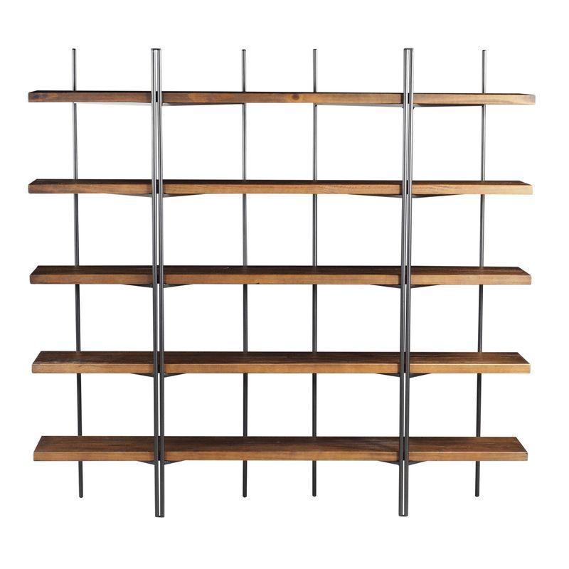Estante-Partition-cor-Rustic-Brown-com-Estrutura-em-Aco-Grafite-200-MT--LARG----46388