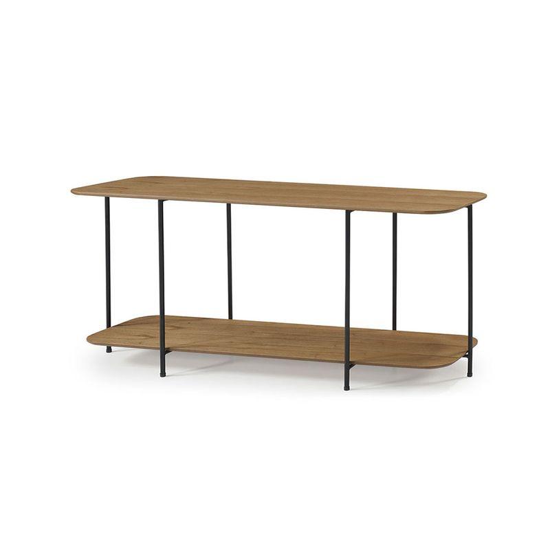 Mesa-de-Centro-Logica-90-cm--LARG--cor-Amendoa-com-Estrutura-em-Ferro-Preto---56934