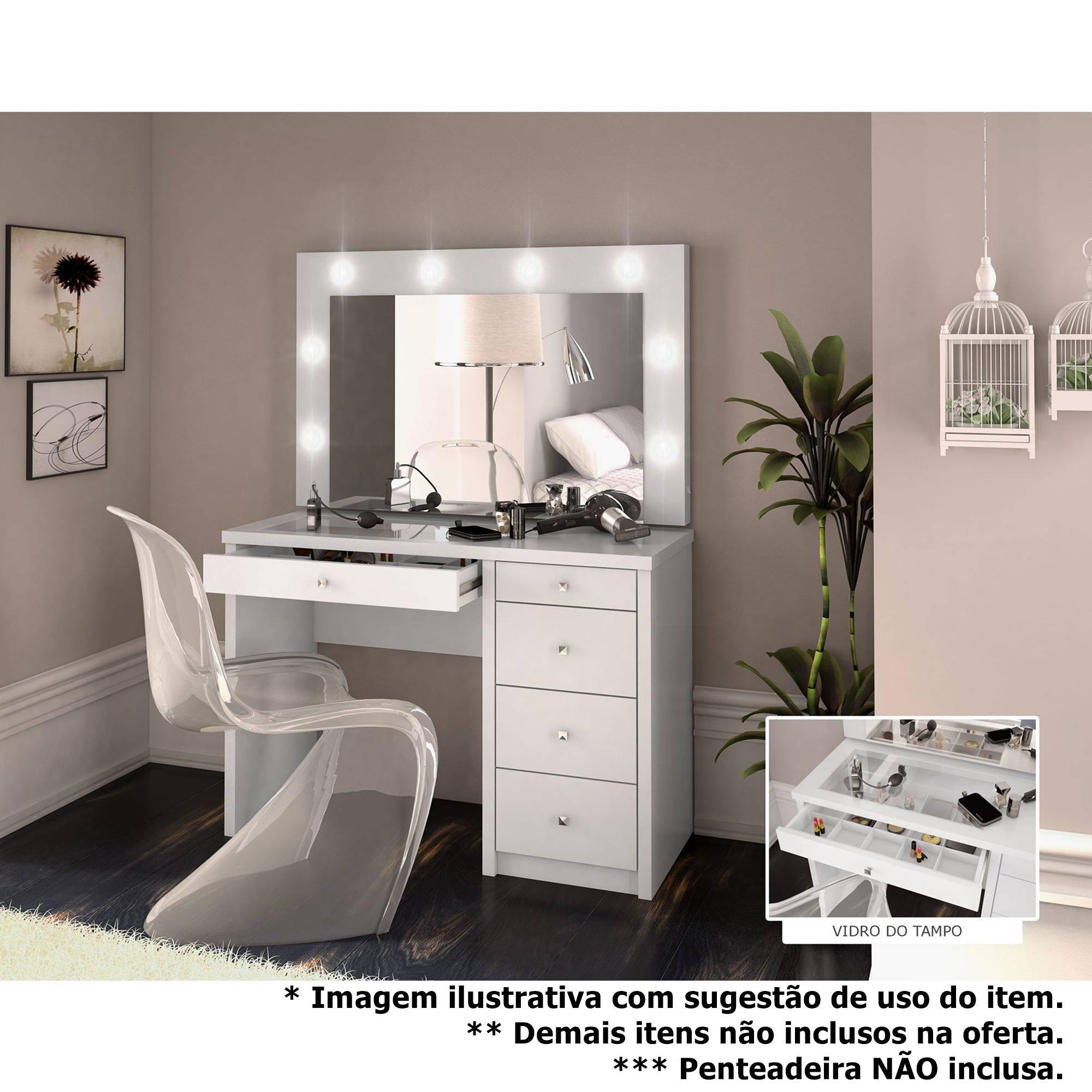 Espelho Camarim Shine cor Offwhite 1,07 MT (LARG) - 56982