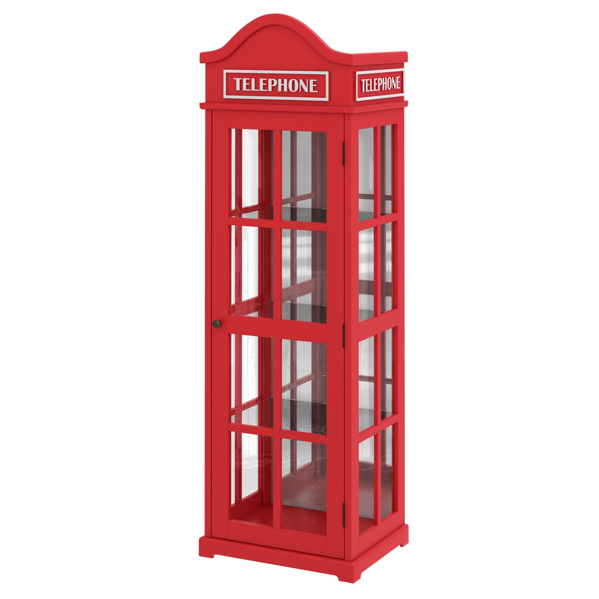 Cristaleira Telephone com Espelho 1,88 MT (ALT) - 56986