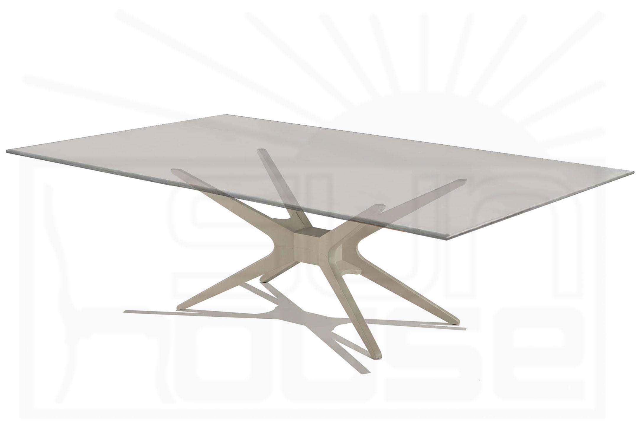 Mesa de Jantar XS com Tampo de Vidro Retangular Base Fendi Fosco 2,00 MT (LARG) - 57131