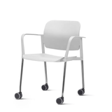 Kit-5-Cadeiras-Leaf-com-Bracos-Assento-Branco-Base-Rodizio-Cromado---57337