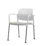 Kit-5-Cadeiras-Leaf-com-Bracos-Assento-Estofado-Branco-Base-Cromada---57340