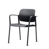 Kit-5-Cadeiras-Leaf-com-Bracos-Preta---57341-