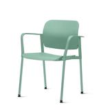 Kit-5-Cadeiras-Leaf-com-Bracos-Verde---57342-