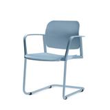 Kit-5-Cadeiras-Leaf-com-Bracos-Base-Fixa-Azul---57349