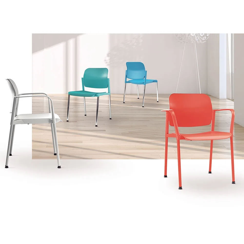 Kit 2 Cadeiras Leaf Preta - 57399