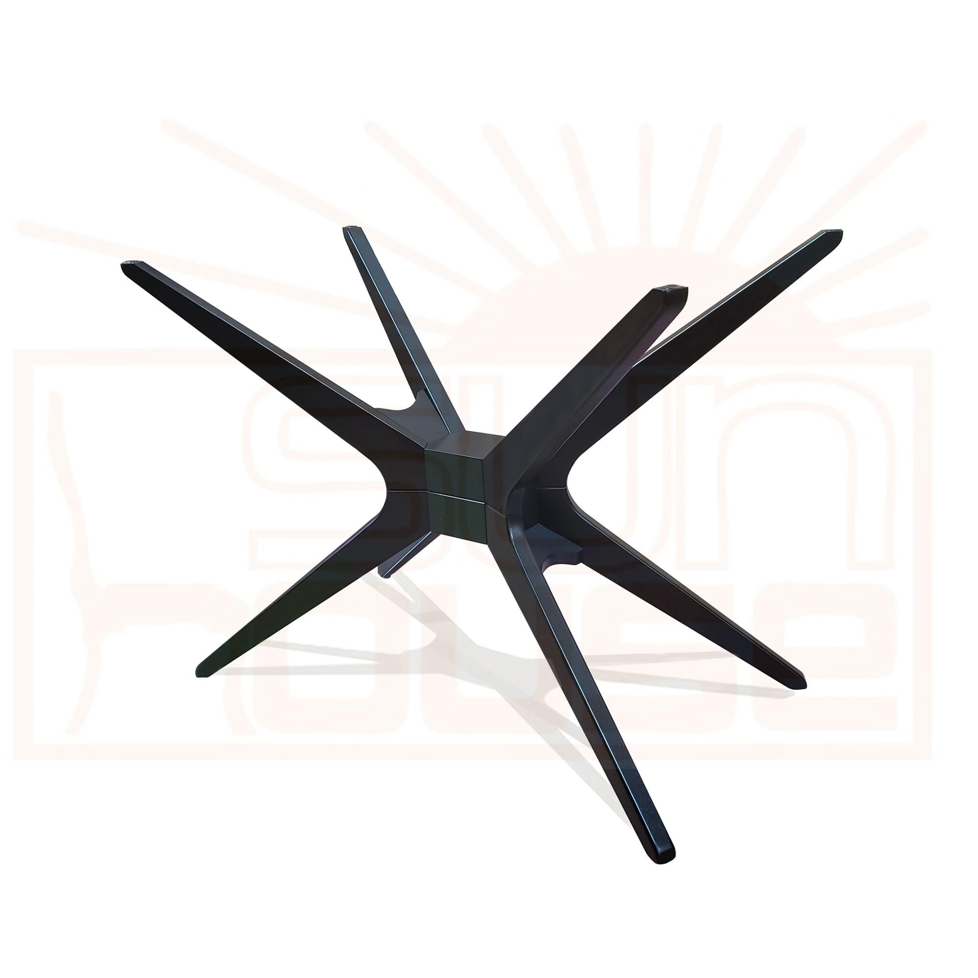 Base Mesa de Jantar Quadrada XS cor Ebano 72 cm (LARG) - 43829
