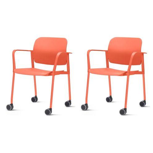 Kit-2-Cadeiras-Leaf-com-Bracos-Base-Rodizio-Laranja---57387